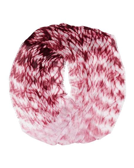 Tie-Dye Infinity Scarf, Purple