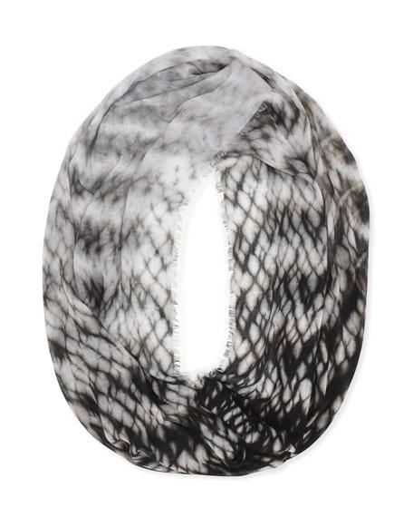 Tie-Dye Infinity Scarf, Black