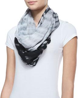 Michael Stars Tie-Dye Infinity Scarf, Black