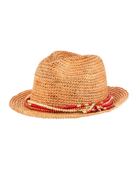 Beaded Tassel-Trim Fedora