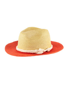 Michael Stars Knotted With Love Wide-Brim Fedora