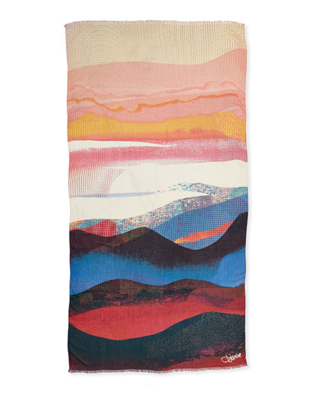 Kenley Sandscape Scarf, Multicolor