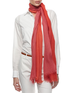Loro Piana Aylit Soffio Scarf, Orange/Red