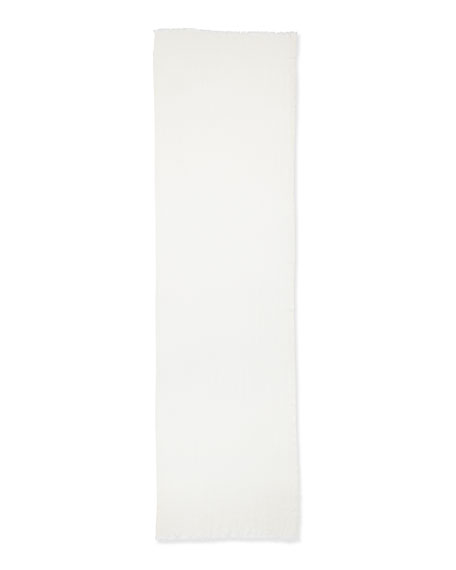 Sciarpa Nuvola Cashmere-Silk Scarf, White