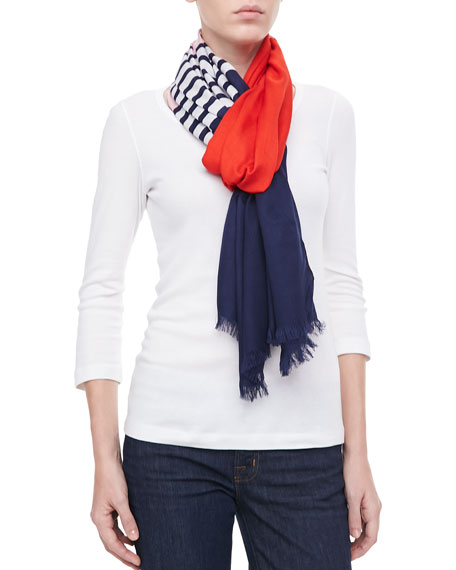 striped colorblocked scarf