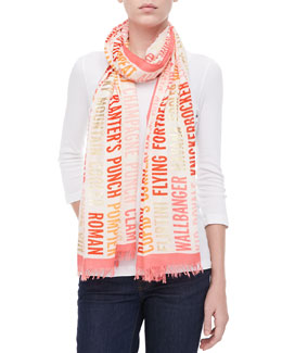kate spade new york cocktails script scarf