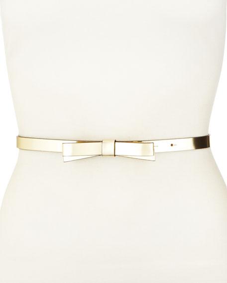skinny bow belt, gold