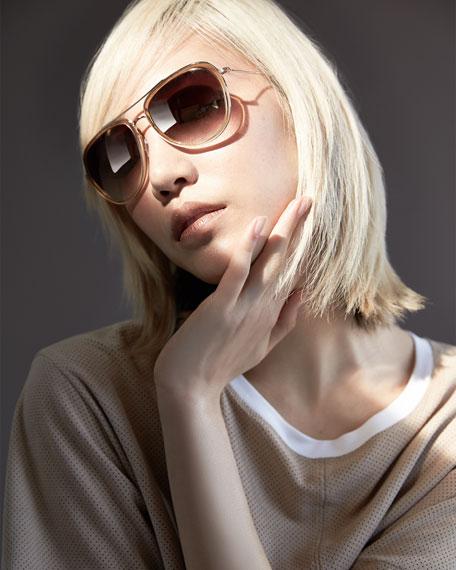 Universal Fit Rio Aviator Sunglasses, Golden