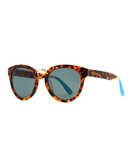 TOMS Eyewear Yvette Panama Tortoise Cat-Eye Sunglasses, Brown