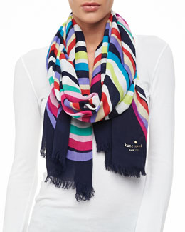 kate spade new york brighton wave scarf, multicolor