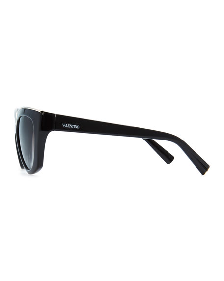V-Notched Sunglasses, Black