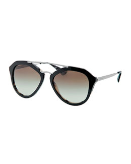 Prada Fashion Catwalk Sunglasses, Black