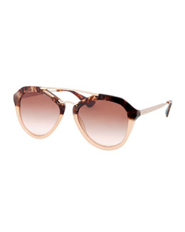 Prada Fashion Catwalk Sunglasses, Brown