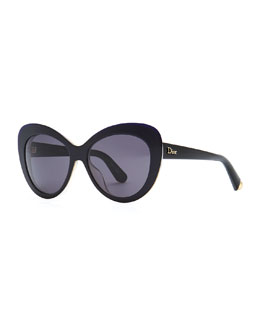 Dior Promesse 1 Cat-Eye Sunglasses, Black