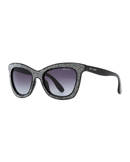 Flash Crystal Sunglasses, Black