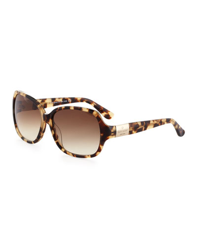 kate spade new york Carmel Acetate Sunglasses, Camel
