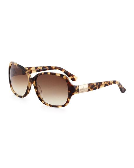 kate spade new york Carmel Acetate Sunglasses, Camel
