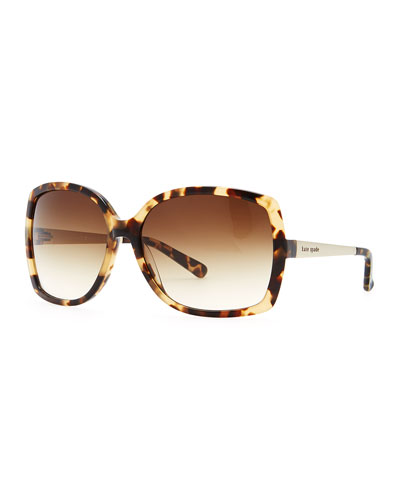 kate spade new york darryl camel tortoise sunglasses