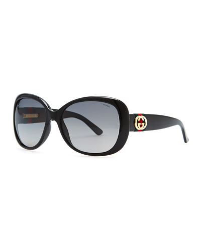 Gradient Polarized Sunglasses, Black