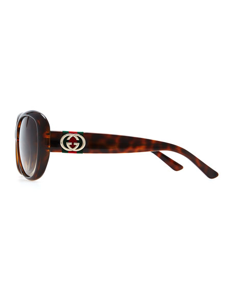 Gradient Polarized Sunglasses, Havana