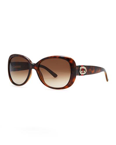Gucci Gradient Sunglasses, Havana