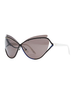 Dior Audacieuse Cat-Eye Sunglasses, Black