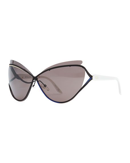 Audacieuse Cat-Eye Sunglasses, Black