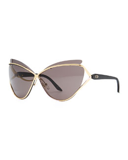 Dior Dior Audacieuse Cat-Eye Sunglasses, Golden
