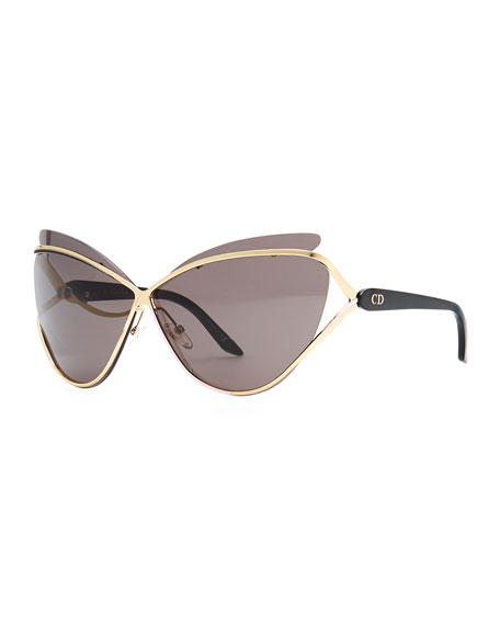 Dior Glasses Frames Cat Eye : Dior Dior Audacieuse Cat-Eye Sunglasses, Golden