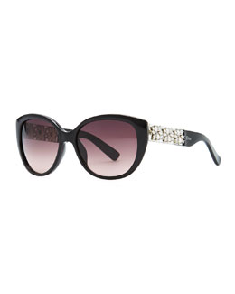 Dior Mystere Cat-Eye Sunglasses, Black