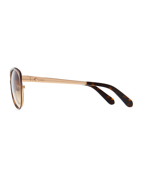 cassia enamel sunglasses, brown