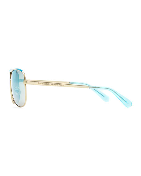 dusty aviator polarized sunglasses, golden