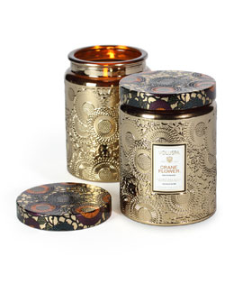Voluspa Japonica Collection Jar Candle, Crane Flower