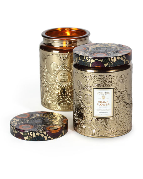Japonica Collection Jar Candle, Crane Flower