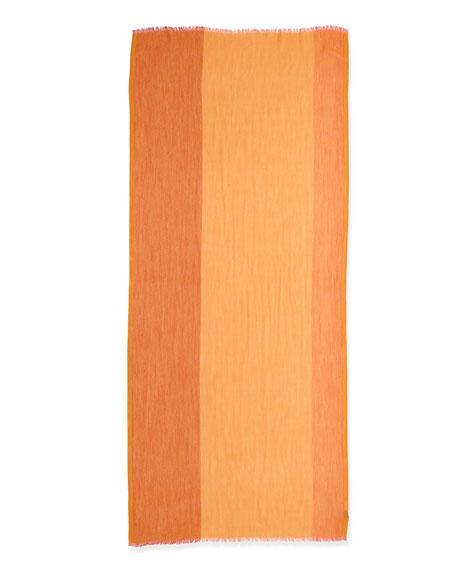 Stola Du Cap Soffio Scarf, Orange/Pink