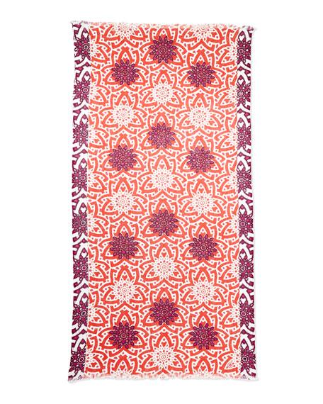 Orion Floral Print Embellished Scarf