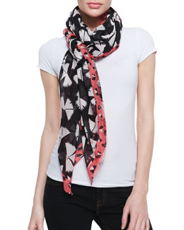 MARC by Marc Jacobs Pinwheel Scarf, Black/Multi