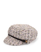 Eugenia Kim Elyse Tweed Marine Cap, Pink/Black