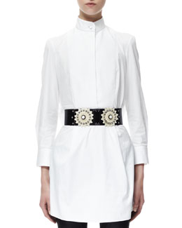 Alexander McQueen Flower Belt, Black