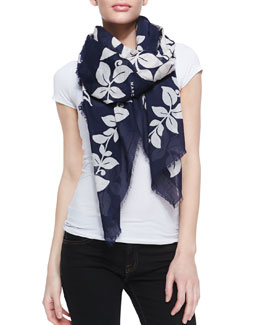 Marc Jacobs Bread Fruit Printed Scarf