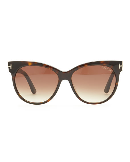 Saskia Acetate Cat-Eye Sunglasses, Brown