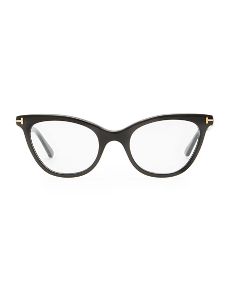 tom ford slight cat eye fashion glasses shiny black. Cars Review. Best American Auto & Cars Review