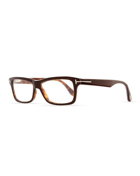 Classic Square Fashion Glasses, Brown