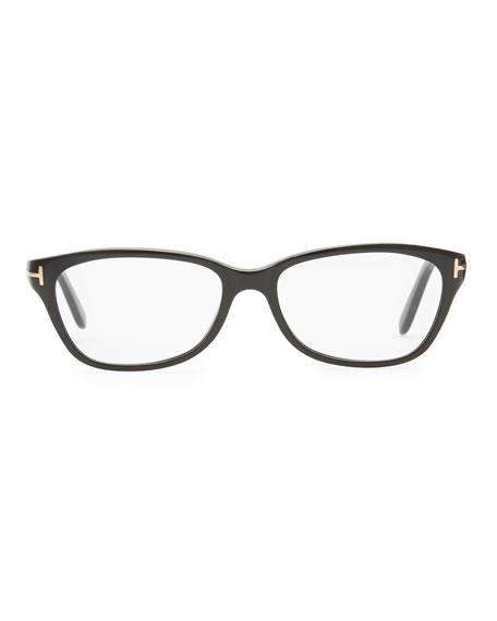 Small Square Fashion Glasses, Black