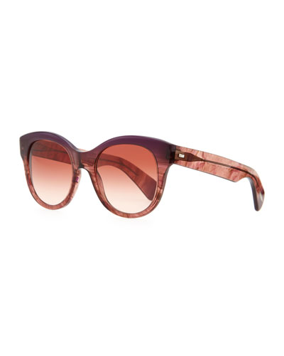 Oliver Peoples Jacey Oversized Sunglasses, Faded Fig