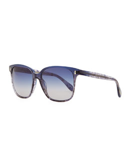 Oliver Peoples Marmont Plastic Sunglasses, Blue