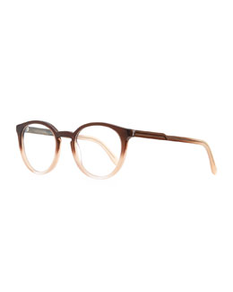 Stella McCartney Round Ombre Acetate Fashion Glasses, Brown