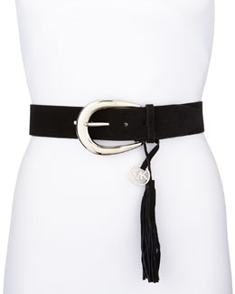 MICHAEL Michael Kors 45 MM Logo Leather Belt