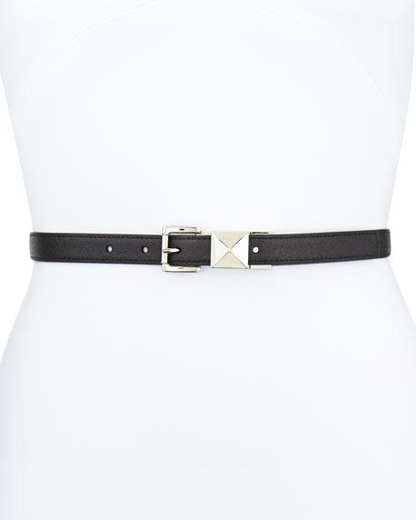 20mm Pyramid-Stud Belt, Black