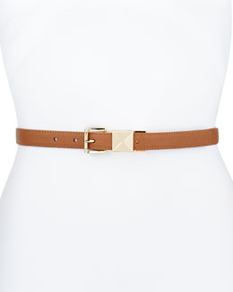 MICHAEL Michael Kors 20mm Pyramid-Stud Belt, Luggage
